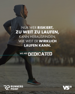 Runners Point we are dedicated Visual 1